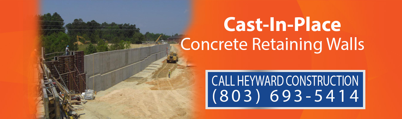 Cast-In-Place Concrete Retaining Walls